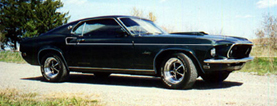 Thumbnail of a black 1969 Ford Mustang sportsroof