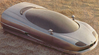 Image of a show car depicting one possible future BMW automobile concept, modified to add hovercraft flexibility.