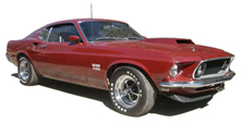 Thumbnail of a red 1969 Boss 429 Mustang