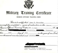 Thumbnail of a US Army ROTC certificate