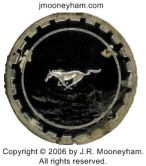 Thumbnail image of an actual original Mustang emblem removed from the real-life Shadowfast supercar during the build process
