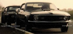 Thumbnail of original photo including the Shadowfast supercar and the Mustang of a friend of the driver's